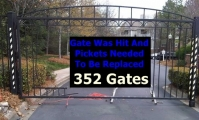 <h5>Swing gate was hit by vehicle</h5>